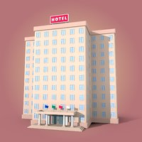cartoon hotel model