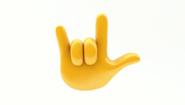emoji hand gesture 3D model