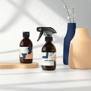 bottles 250ml spray 3D model