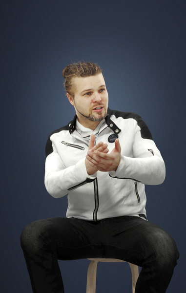 3D model explaining jacket man
