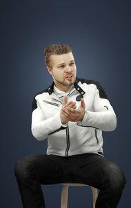 3D model explaining jacket man