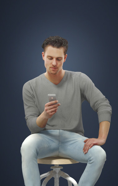 cell phone man 3D model