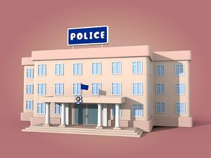 3D cartoon police station