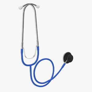 3D stethoscope 1 blue