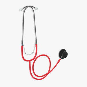 3D model stethoscope medicine