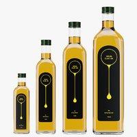 3D oil bottles
