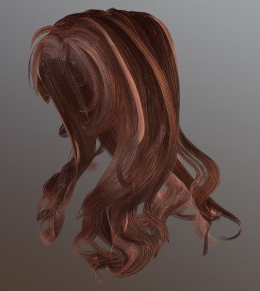 female hairstyle hair 3D