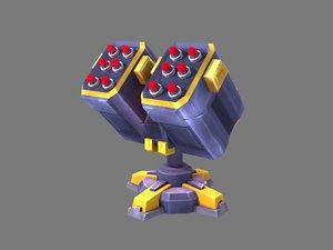 missle turret 3D