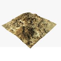 3D terrain ready model