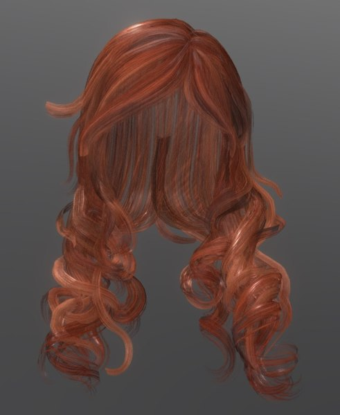3D model female hairstyle hair