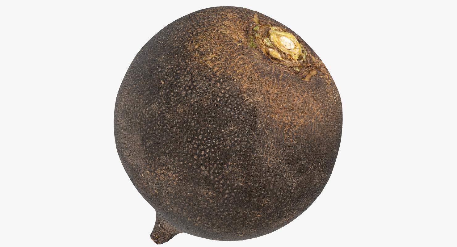 3D turnip black 06