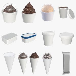 3D model ice cream mock