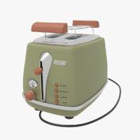 toaster delonghi toast 3D model