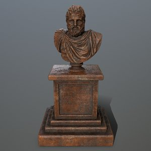 3D hercules statue