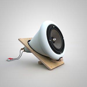 electronic speaker 3D model