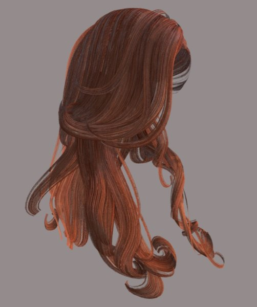 female hairstyle hair 3D model