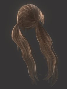 female hairstyle hair 3D model