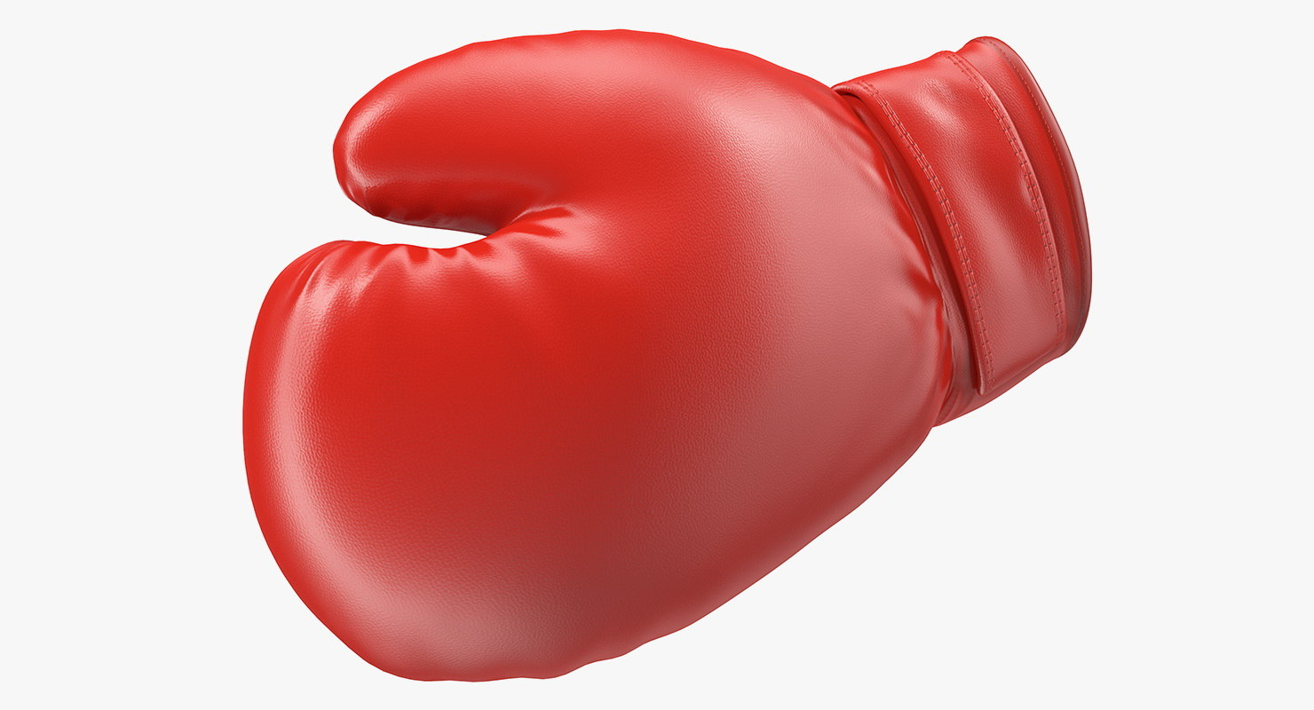 boxing glove rigged 3D model