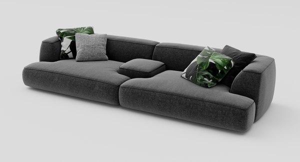 Lema Cloud Sofa Model Turbosquid
