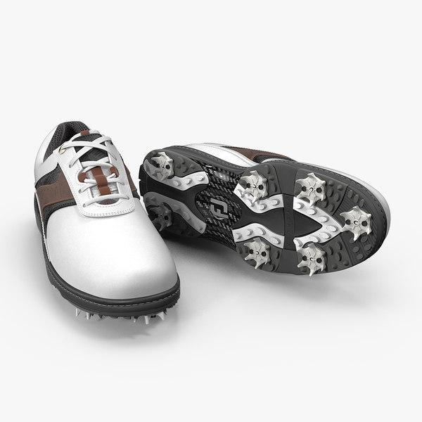 footjoy men contour white 3D model