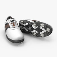 footjoy men contour white 3D model