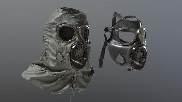gas mask hazmat 3D model