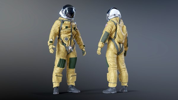 3D model lockheed u2 pilot suit