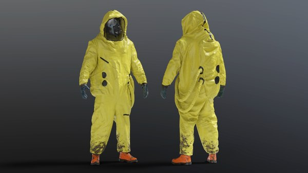 3D gas mask hazmat nbc model