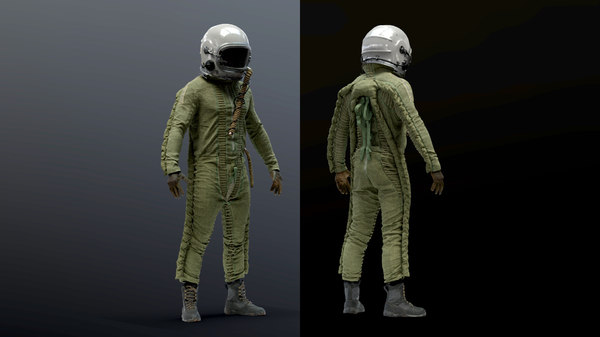 russian altitude flight suit 3D model