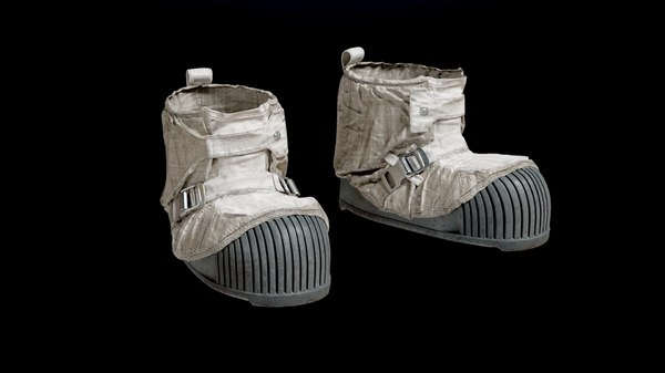 3D apollo 11 nasa boots model