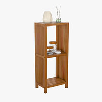 bamboo shelving unit bathroom 3D model
