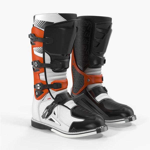 3D men motocross boots moto model