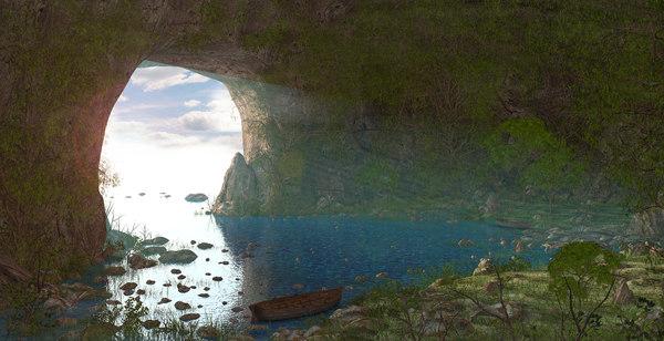 3D cave fantasy