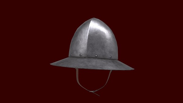 3D model low-poly helmet