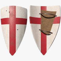 3D historically crusader shield model