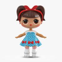3D lol doll dressed model
