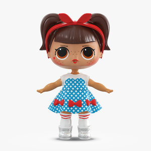 3D lol doll dressed model
