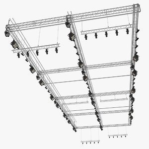 roof mounted stage lights 3D