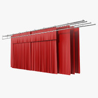 3D stage curtain
