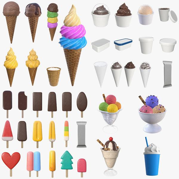 cone ice cream 3D