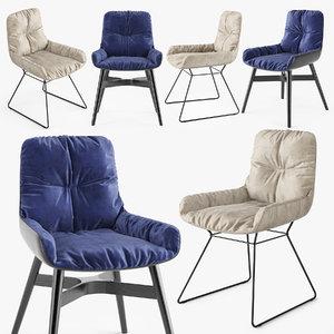 freifrau leya armchair 3D model