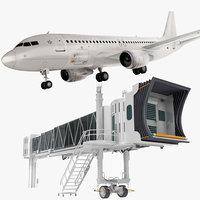 airplane jet way airbus 3D model