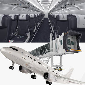 airplane jet way interior 3D