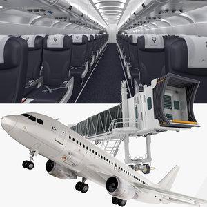 airplane jet way interior 3D