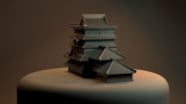 chinese japanese japan house model