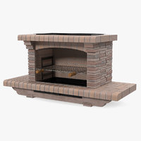 Stone Barbecue 3D Model