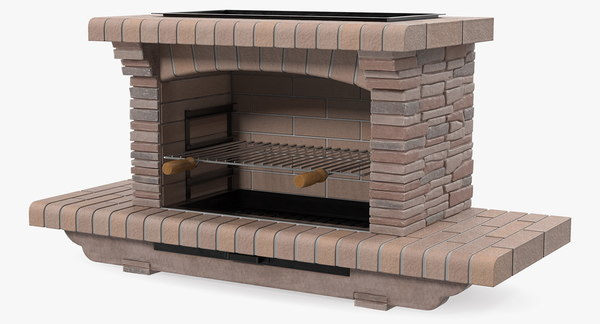 Modele 3d De Barbecue En Pierre Turbosquid 1417930