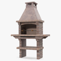 Stone Masonry Barbecue 3D Model