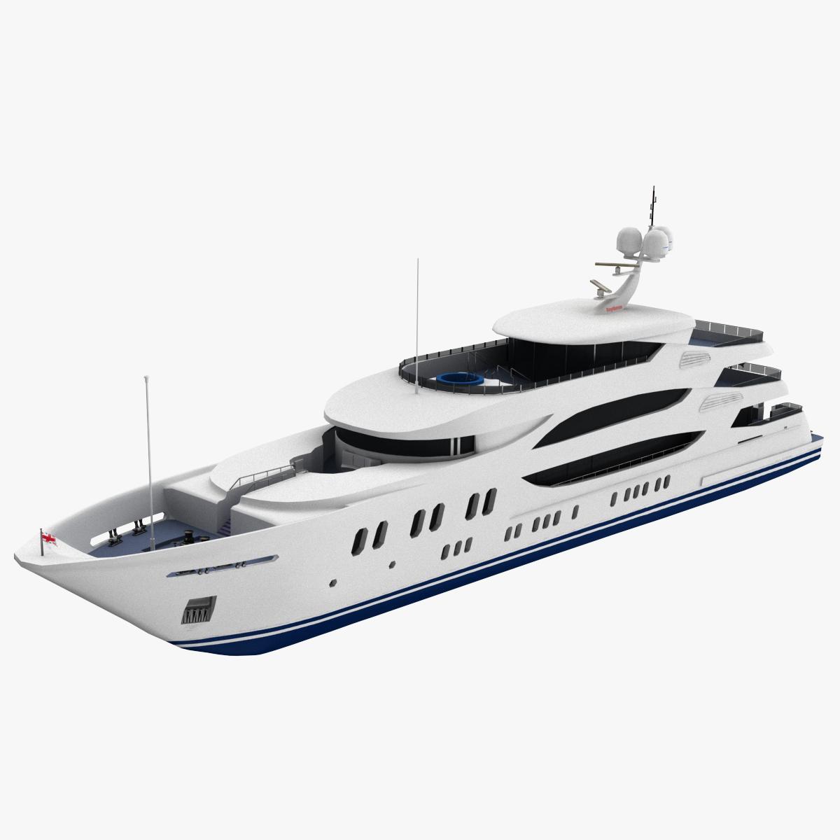 3D trinity yacht model