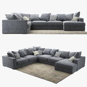 3D model sofa boconcept cenova